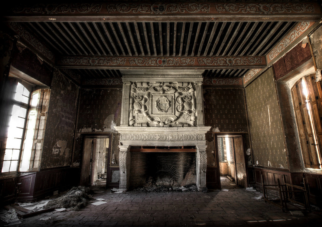 Abandoned castles interior